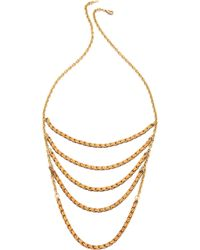 Serefina Rope Layered Necklace - Gold Multi - Lyst