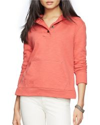 Lauren by Ralph Lauren - French Terry Hooded Pullover - Lyst