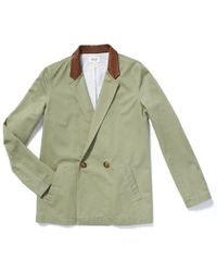 Kule Ray Jacket With Leather Collar - Lyst