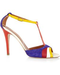 Malone Souliers Tammy Suede And Leather Sandals - Lyst