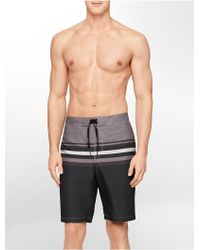 Calvin Klein White Label Striped Boardshorts gray - Lyst