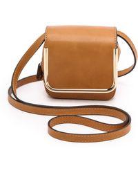 Carven Mini Leather Bag  Honey - Lyst