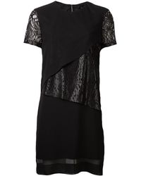 Robert Rodriguez Black Paneled Dress - Lyst