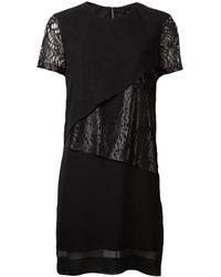 Robert Rodriguez Paneled Dress black - Lyst