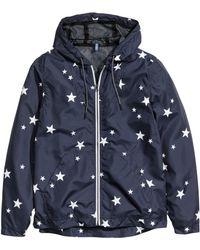 H&M Nylon Jacket blue - Lyst