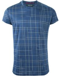 Sébastien Blondin - Check T-Shirt - Lyst