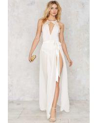 Nasty Gal | Jump Maxi Sheer Skirt - White | Lyst