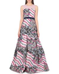 Peter Pilotto Circuit Woven Gown - For Women - Lyst