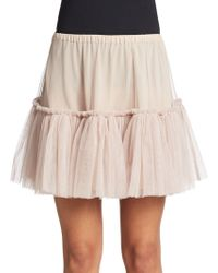 RED Valentino Tiered Tulle Skirt - Lyst