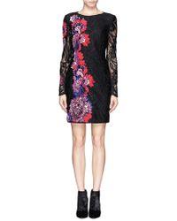 Emilio Pucci Floral Appliqué Lace Dress - Lyst