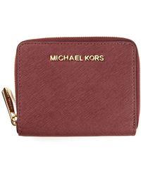 MICHAEL Michael Kors Jet Set Travel Wallet - Lyst