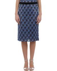 10 Crosby Derek Lam Guipure Lace Pencil Skirt - Lyst