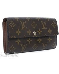 Louis Vuitton Pre-Owned Monogram Canvas Sarah Wallet - Lyst