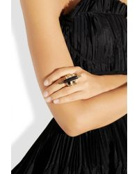 Emilio Pucci - Goldtone Crystal and Resin Ring - Lyst