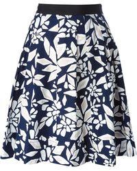 Diane von Furstenberg Floral Print A-Line Skirt - Lyst