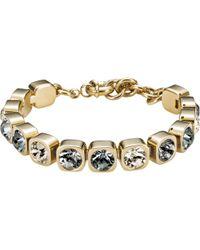 Dyrberg/Kern - Dyrberg/kern Conian Swarovski Crystal Gold Plated Bracelet - Lyst