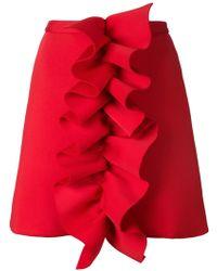 Nicopanda - Ruffled A-line Skirt - Lyst