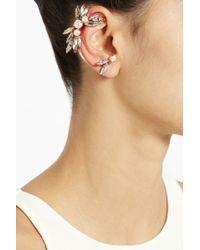 Ryan Storer - Rose Goldplated Swarovski Crystal and Pearl Ear Cuff - Lyst