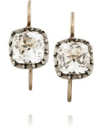 Olivia Collings - 1830S Silver Rock Crystal Earrings - Lyst