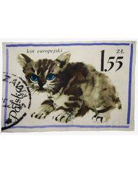 Maison Passage - Kitty Postage Stamp Scarf - Lyst