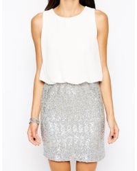 Tfnc Michelle Dress with Sequin Skirt - Lyst