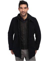 Calvin Klein Wool Melton Carcoat - Lyst