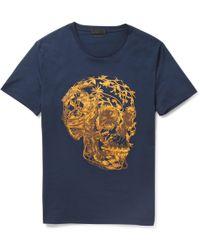 Alexander McQueen Skullprint Cottonjersey Tshirt - Lyst