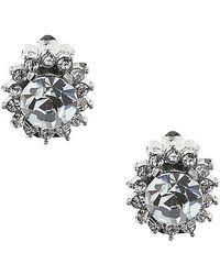Nina - Rella Mod Haloed Clip Earrings - Lyst
