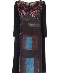 Antonio Marras 3/4 Length Sleeve Crêpe Short Dress - Lyst