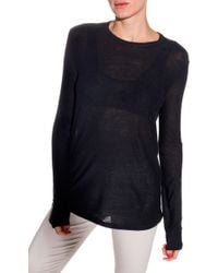 T By Alexander Wang Classic Long Sleeve Slub Tee - Lyst