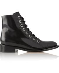 Maje - Godillot Lace-up Leather Boots - Lyst