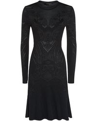 Roberto Cavalli Knitted Fit and Flare Dress - Lyst
