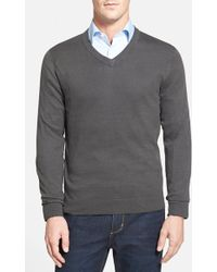John W. Nordstrom® Cotton Blend Sweater - Lyst