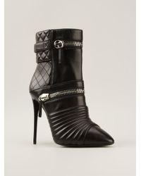 Giuseppe Zanotti Zipped Biker Ankle Boots - Lyst