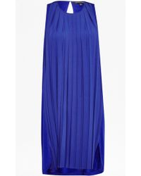 French Connection Pleated Polly Dress blue - Lyst