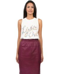 3.1 Phillip Lim Lights Out Tank in White - Lyst