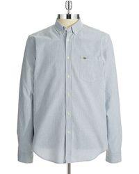 Lacoste Striped Sport Shirt - Lyst