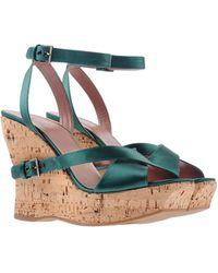 Alaïa Green Sandals - Lyst