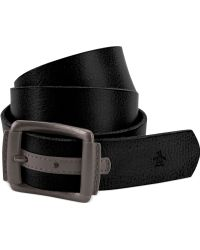Original Penguin Leather Belt with Colored Tab - Lyst