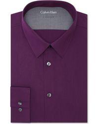 Calvin Klein X Extra-Slim Magenta Fineline Striped Dress Shirt - Lyst