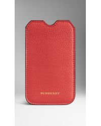 Burberry Grainy Leather Iphone 5 Case - Lyst