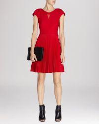 Karen Millen Dress - Pleat Skirt - Lyst