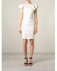 Lanvin Beige Open-Back Dress - Lyst