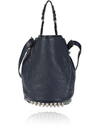 Alexander Wang Diego in Pebbled Neptune with Rhodium - Lyst
