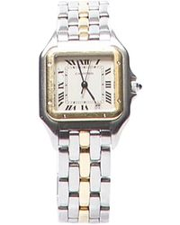 Cartier Pre-Owned Tank Francaise 18K Gold Stainless Watch - Lyst
