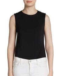 Donna Karan New York Paneled Stretch Jersey Bodysuit - Lyst