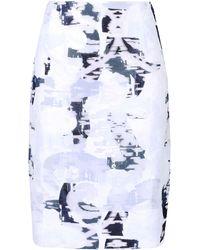 Jil Sander Knee Length Skirt - Lyst