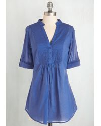 Magazine Clothing Co., Inc. - Back Road Ramble Tunic In Blue - Lyst