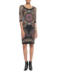 Etro 34sleeve Printed Sheath Dress - Lyst
