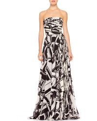 Ralph Lauren Collection Maria Printed Bustier Gown - Lyst
